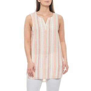 Beach Lunch Lounge Coral Sands Jenna Striped Top S